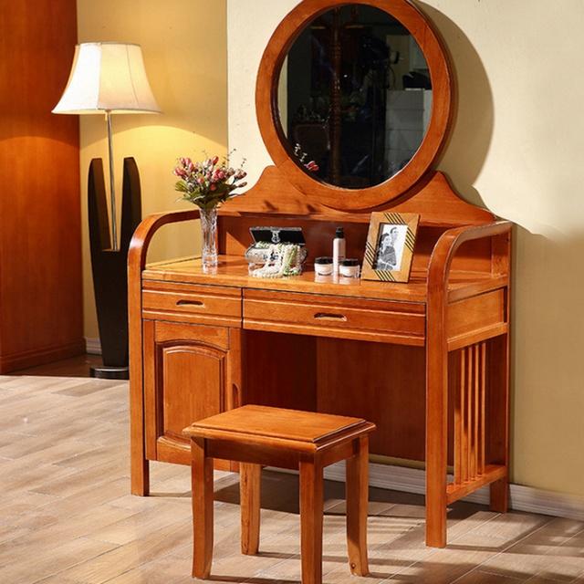 Bàn trang điểm gỗ tự nhiên thiết kế đơn giản