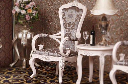 Bộ bàn ghế khách sạn thiết kế tay vịn thanh lịch