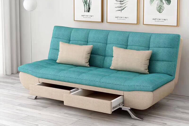 Ghế sofa giường kết hợp nhiều chức năng giúp tiết kiệm không gian sống